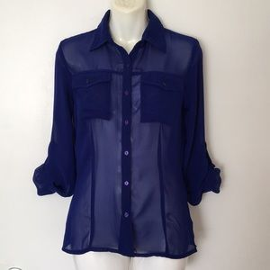 Truth Royal Blue quarter sleeves top size S